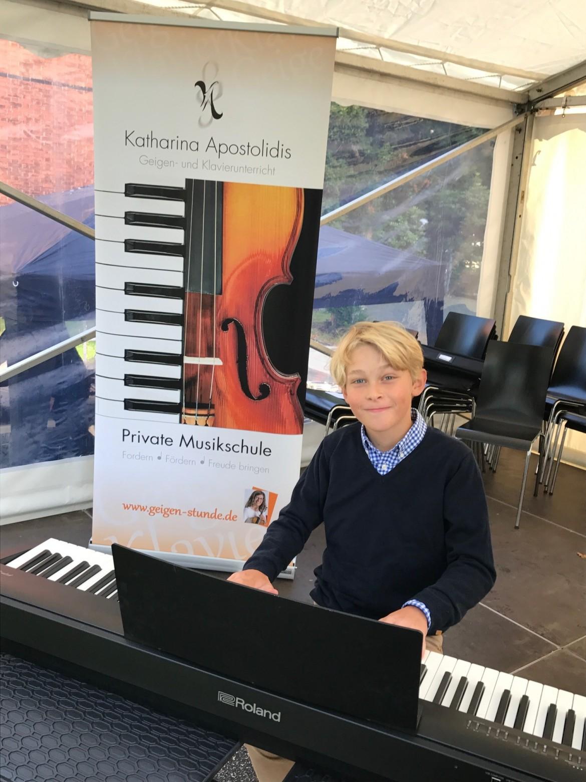 Blankeneser Straßenfest 2017 Konzert meiner Geigen-und Klavierschüler