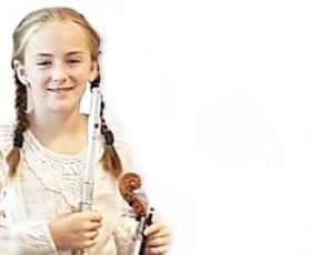Meine 10-jährige Geigenschülerin Lara mit der Biene von F. Schubert und Sarasates Zigeunerweisen