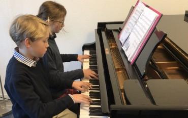 Drei Duos im Lampenfieberkonzert vor Jugend musiziert-Wettbewerb 2018
