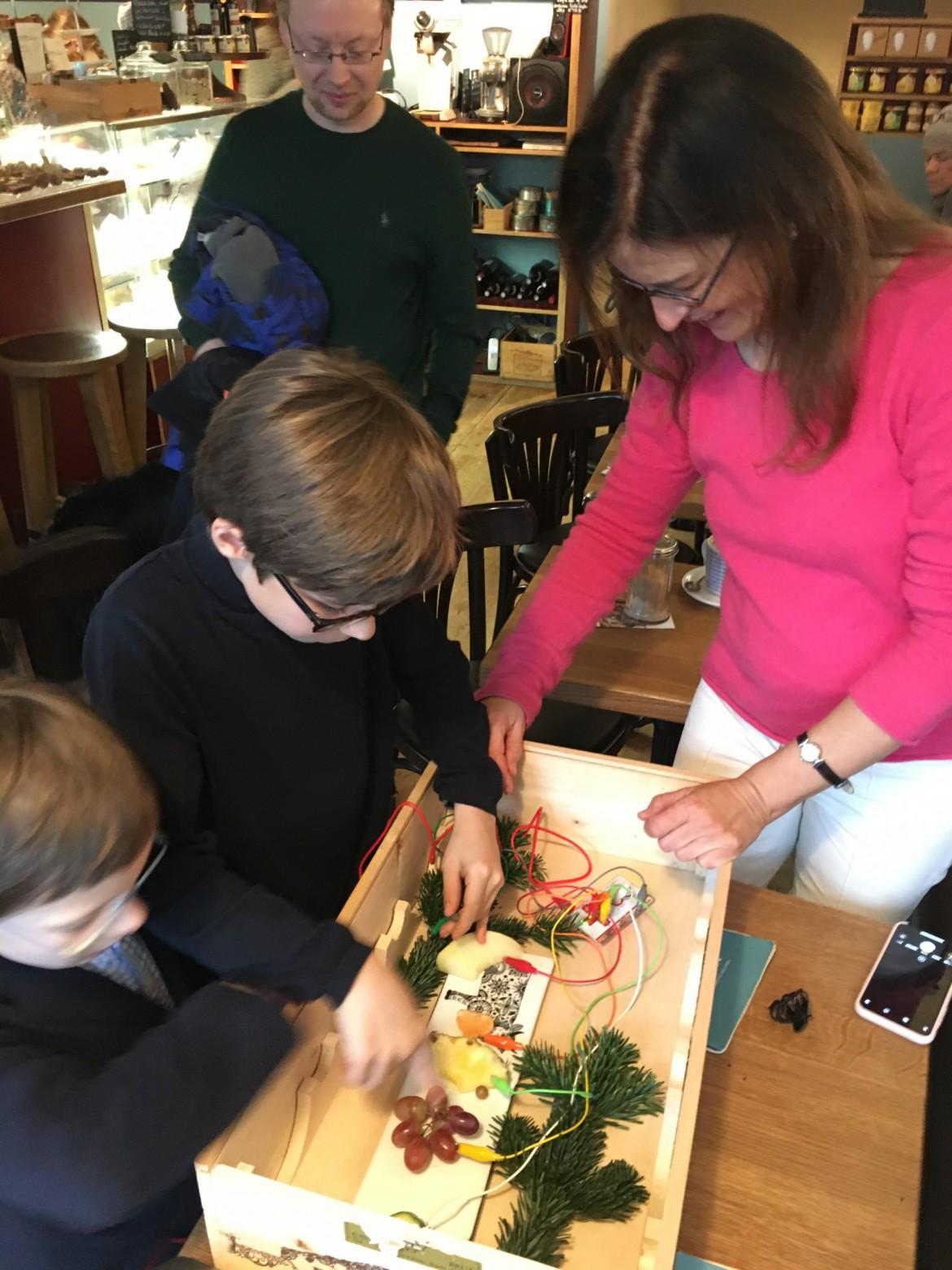 Schülervorspiel im Café Chez Wilma beim Blankeneser Adventskalender 2019
